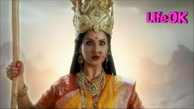 File:Bagalamukhi Devi Holding a Cudgel.png