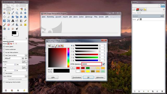 Datei:Von Hex nach RGB mit Gimp 2.png