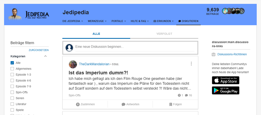 Update - Neuer Header in Diskussionen