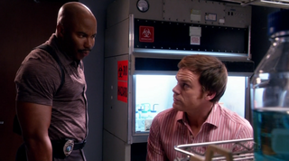 Image result for dexter season 2 dexter and doakes