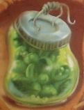 Sliced pickled peas