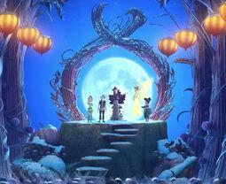 Blue Harvest Moon