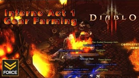 Diablo 3 - Act 1 Inferno Gear Farming Warden & Butcher (Route Guide Gameplay)