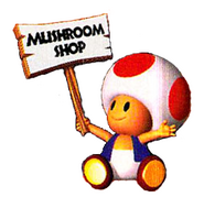 Toad Holding Sign