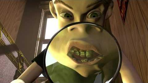 Toy Story - Sid tortures Woody with magnifying glass (HD clip)