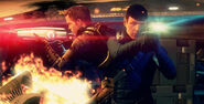 DHS- Chris Pine and Zachary Quinto in Star Trek (2013 videogame)