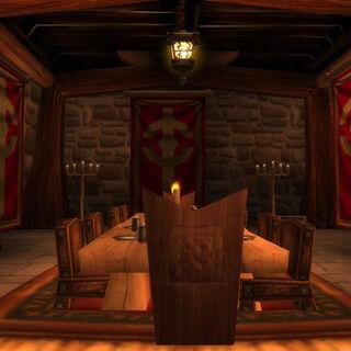 Der Speise Saal des Kreuzzugs, Hier Speisen die Köpfe des Kreuzzugs.