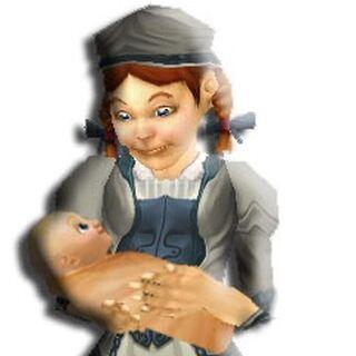 Laurane als kleines Kind mit Bruder Robin