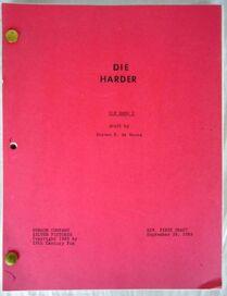 Die Harder Script
