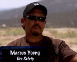 DH4- Inside the Action MTV special- fire safety stuntman Marcus Young