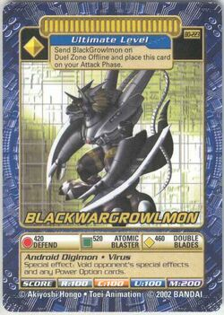 BlackWarGrowlmon Bo-223 (DB)