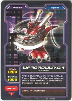 WarGrowlmon DM-091 (DC)