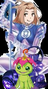 Indigo Lantern Mimi and Palmon