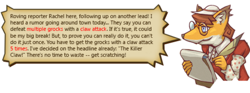 The Killer Claw! text 1