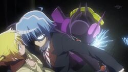 Hayate saving Nagi