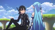 Asuna to Kirito about converting to GGO