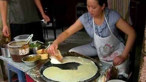 How to make Chinese vegetable crape