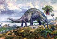 Brontosaurus by zdenek burian 1950