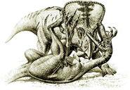 Velociraptor v Protoceratops