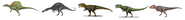 5 giant theropods