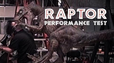 JURASSIC PARK - Raptor Puppet Attack Test - BEHIND-THE-SCENES