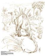 Kentrosaur concept art