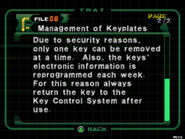 Management of keyplates (2)