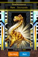 Rare Brachiosaurus in Platinum Dino Cage