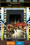 Rare Mapusaurus in Platinum Dino Cage