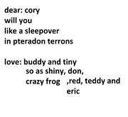Cory letter form postraptor