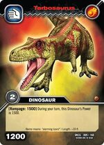 Tarbosaurus TCG card