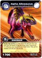 Alpha Allosaurus TCG card