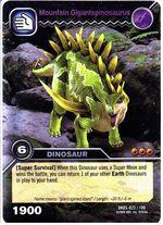 Gigantspinosaurus-Mountain TCG Card 1-Silver