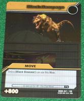 Black Rampage TCG Card 1-Silver
