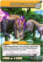 Gladiator Headbutt TCG Card (French)