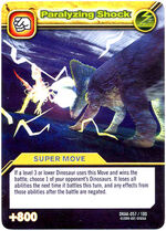 Paralyzing Shock TCG Card 1-Silver