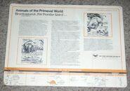 Primeval World Brontosaurus card back