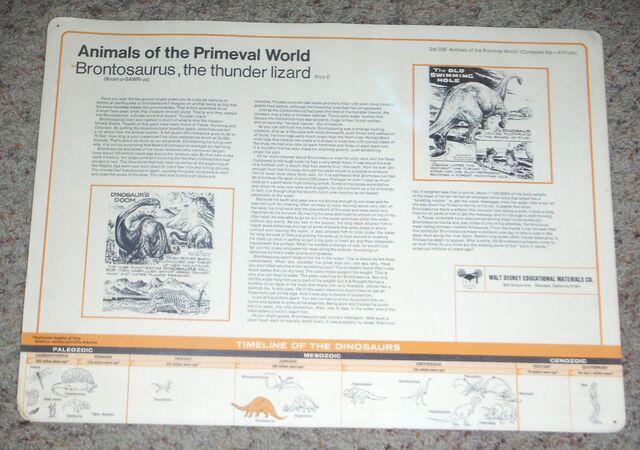 File:Primeval World Brontosaurus card back.jpg