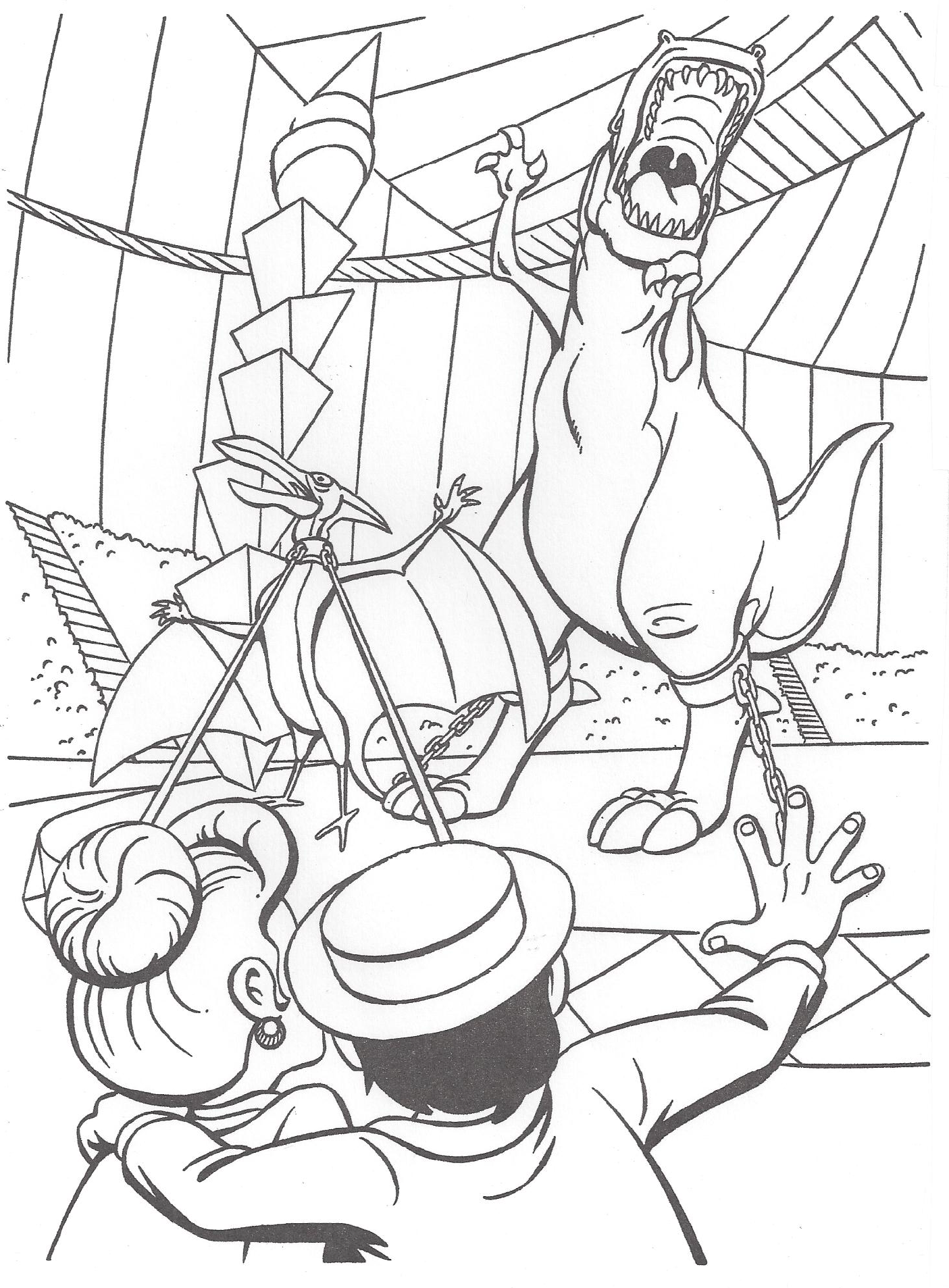 image we u0027re back coloring page 11 png dinopedia fandom