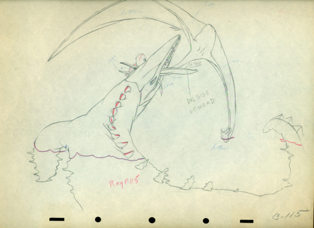 File:Fantasia Dinosaur Pterodactyl cel Disney production Drawing 1940.png