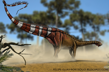 Dinheirosaurus lourinhanensis by felipe elias