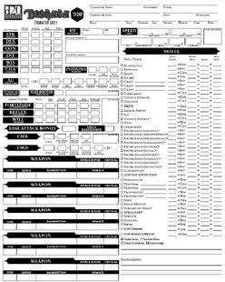 Disgaea Character Sheet 1