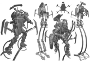 Early concept art of tallboys