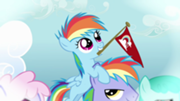 File:180px-Filly Rainbow Dash on a similar looking pony's head S3E12.png