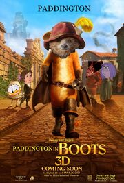 Paddington in Boots Poster