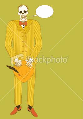 File:Skeleton wearing pinstripe suit and holding Fedora.jpg