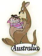Cheshire Cat Australia Pin
