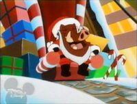 Pumbaa as Santa