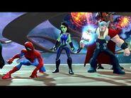 Gamora with Thor and Spider-Man