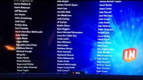 Disney Infinity 3.0 Credits